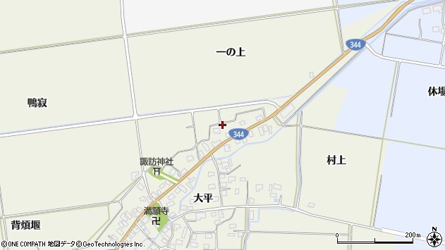山形県酒田市安田大平218周辺の地図