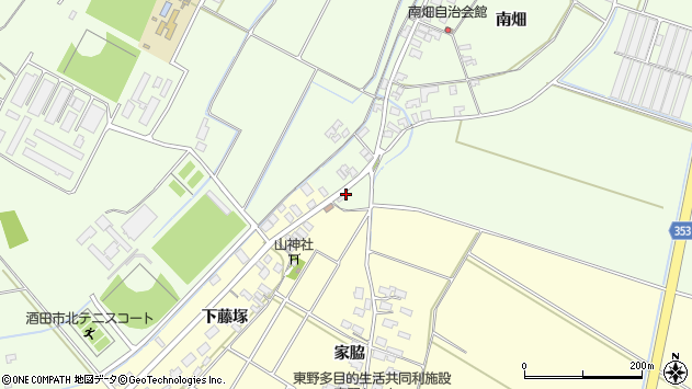 山形県酒田市藤塚下谷地114周辺の地図