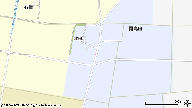 山形県酒田市岡島田北田2周辺の地図