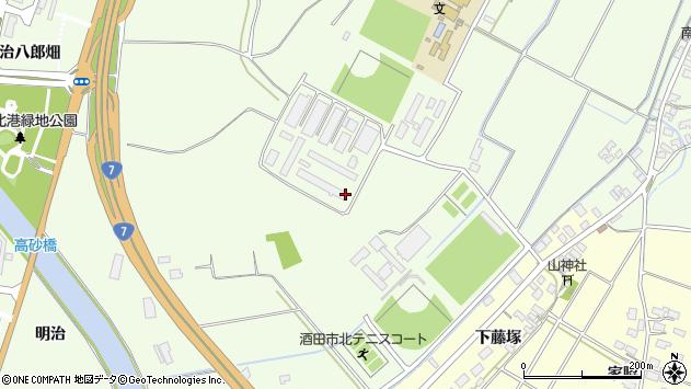 山形県酒田市宮海新林400周辺の地図