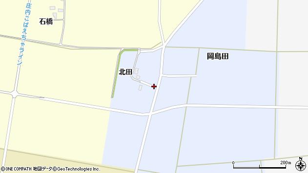 山形県酒田市岡島田北田周辺の地図