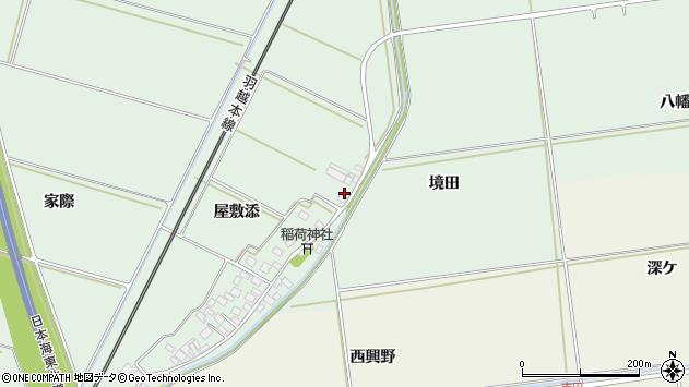 山形県酒田市保岡屋敷添51周辺の地図