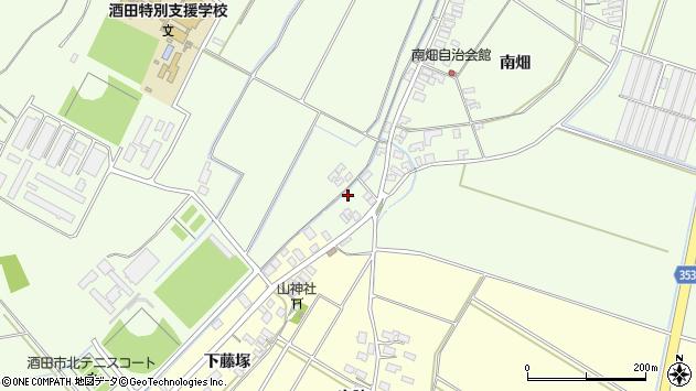 山形県酒田市藤塚南畑115周辺の地図