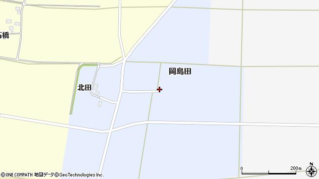 山形県酒田市岡島田北田21周辺の地図