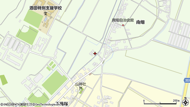 山形県酒田市藤塚南畑117周辺の地図