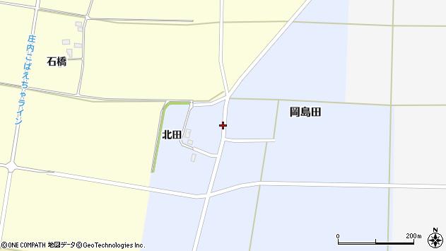 山形県酒田市岡島田北田28周辺の地図