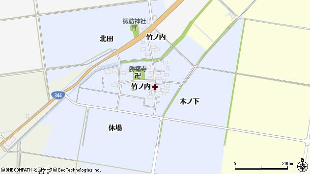 山形県酒田市上安田竹ノ内15周辺の地図