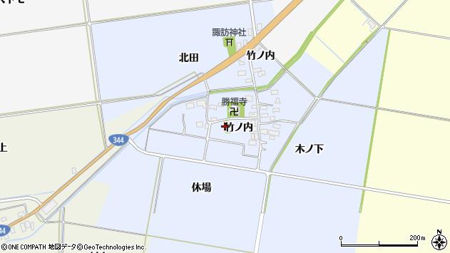 山形県酒田市上安田竹ノ内27周辺の地図