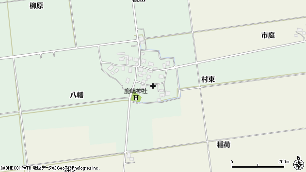 山形県酒田市保岡村東周辺の地図
