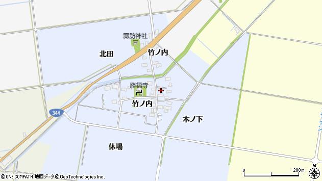 山形県酒田市上安田竹ノ内3周辺の地図