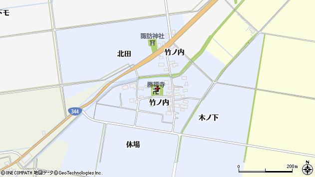山形県酒田市上安田竹ノ内22周辺の地図