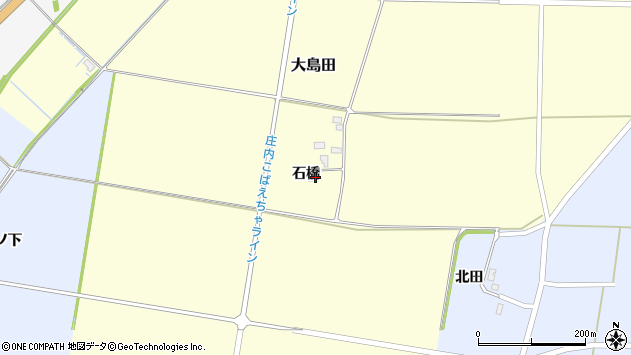山形県酒田市大島田石橋56周辺の地図