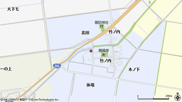 山形県酒田市上安田竹ノ内47周辺の地図