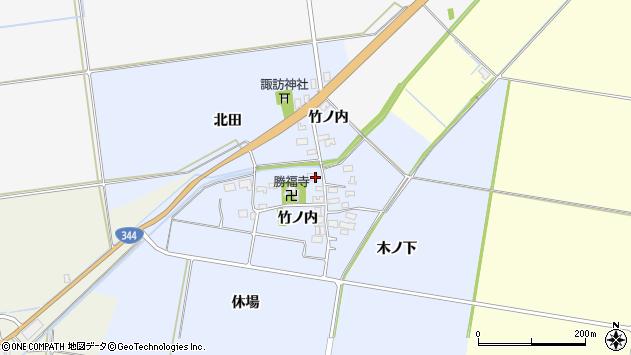 山形県酒田市上安田竹ノ内20周辺の地図