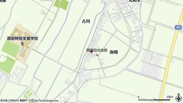 山形県酒田市藤塚南畑22周辺の地図