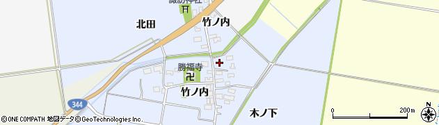 山形県酒田市上安田竹ノ内2周辺の地図