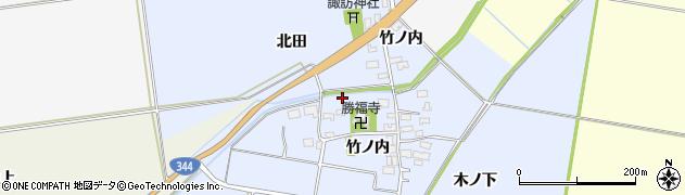 山形県酒田市上安田竹ノ内周辺の地図