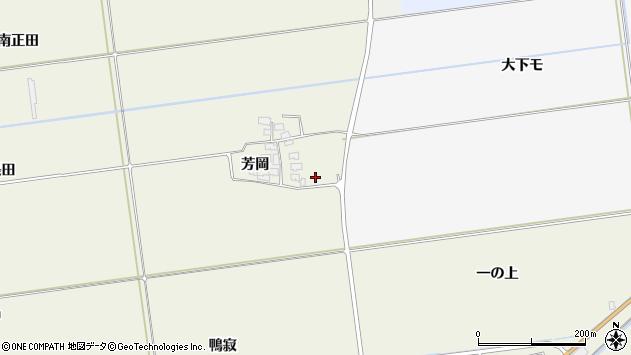 山形県酒田市安田芳岡37周辺の地図