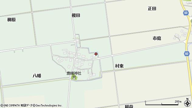 山形県酒田市保岡榎田周辺の地図
