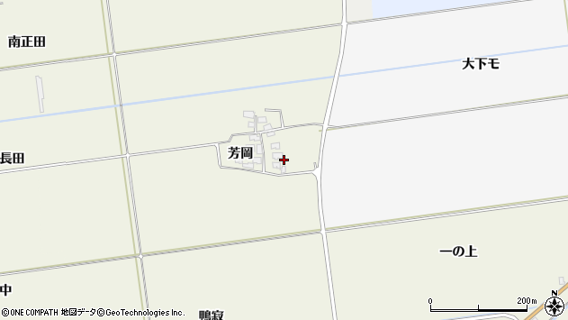 山形県酒田市安田芳岡38周辺の地図