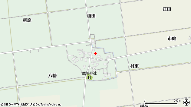 山形県酒田市保岡村東71周辺の地図