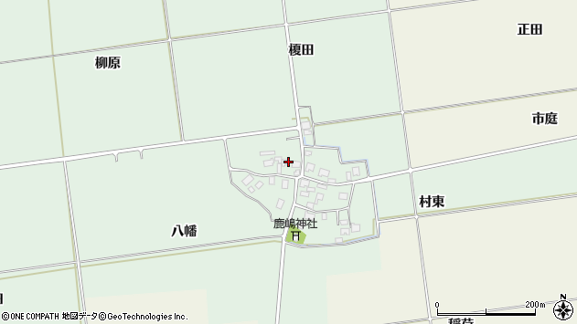 山形県酒田市保岡八幡95周辺の地図