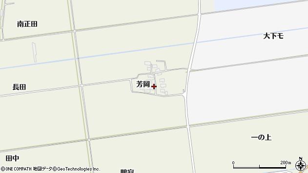 山形県酒田市安田芳岡22周辺の地図