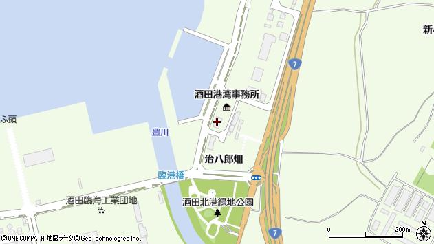 山形県酒田市宮海治八郎畑1周辺の地図