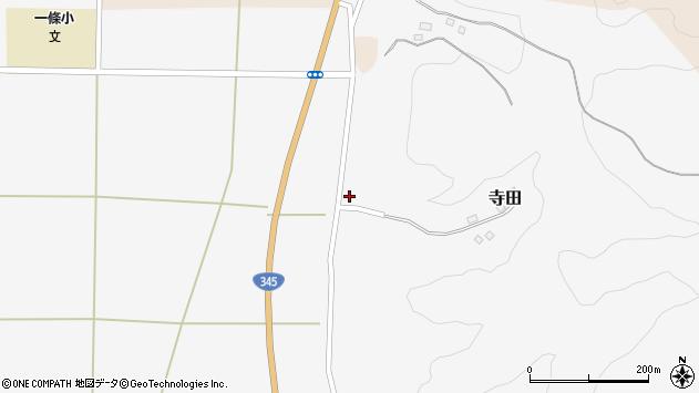 山形県酒田市寺田道ノ下周辺の地図