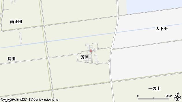山形県酒田市安田芳岡20周辺の地図