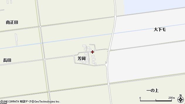 山形県酒田市安田芳岡19周辺の地図