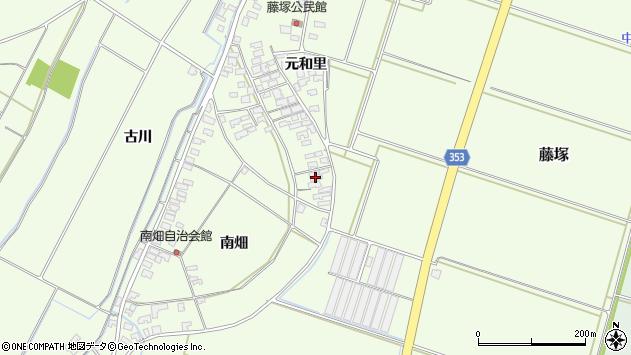 山形県酒田市藤塚元和里109周辺の地図