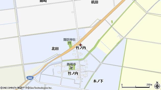山形県酒田市上安田北田27周辺の地図