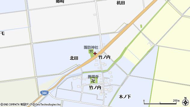 山形県酒田市上安田北田49周辺の地図
