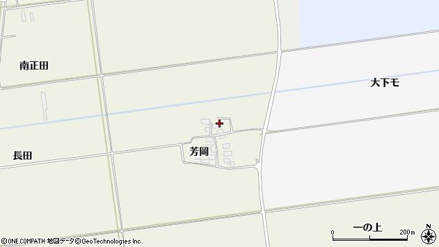 山形県酒田市安田芳岡7周辺の地図