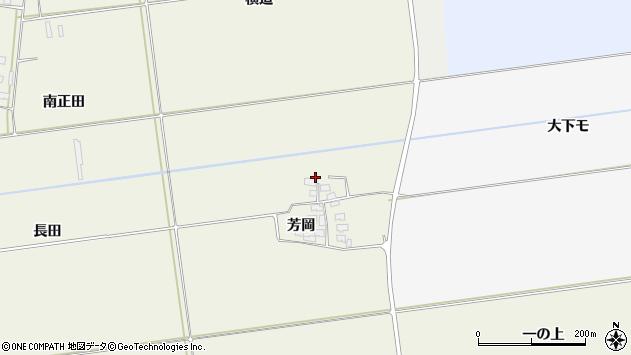 山形県酒田市安田芳岡10周辺の地図