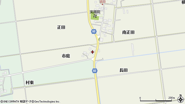 山形県酒田市庭田市庭35周辺の地図