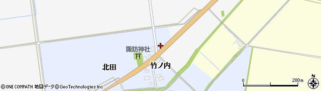 山形県酒田市上安田北田33周辺の地図