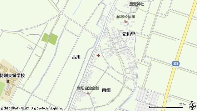 山形県酒田市藤塚南畑2周辺の地図