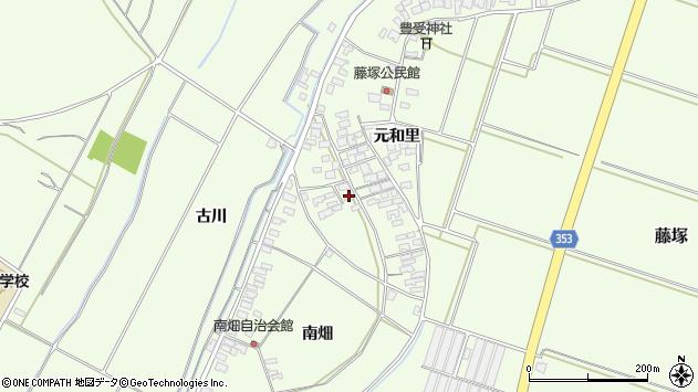 山形県酒田市藤塚元和里75周辺の地図