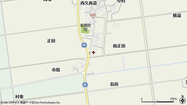 山形県酒田市庭田南正田周辺の地図
