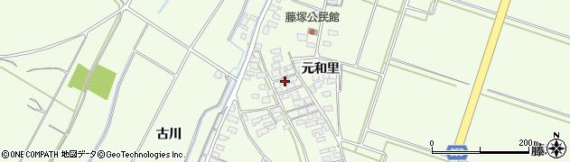 山形県酒田市藤塚周辺の地図