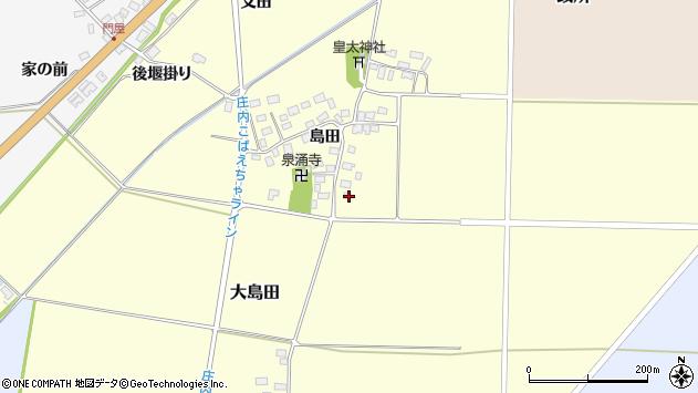 山形県酒田市大島田島田92周辺の地図