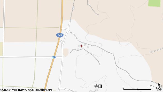 山形県酒田市寺田道ノ上50周辺の地図