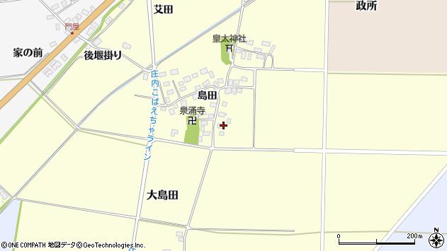 山形県酒田市大島田島田87周辺の地図