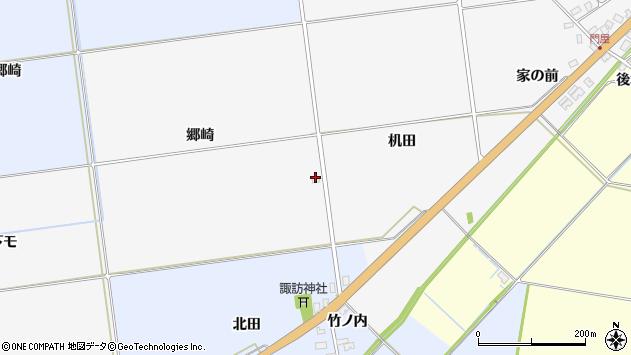 山形県酒田市刈穂郷崎周辺の地図