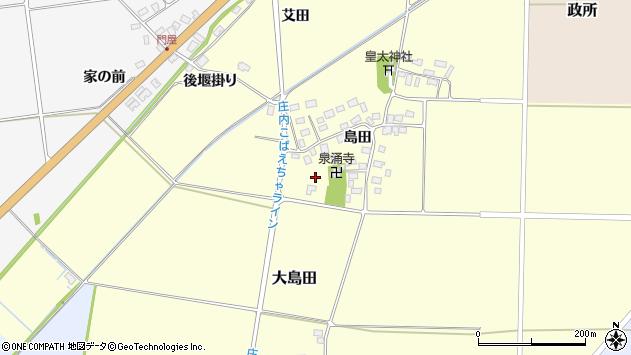 山形県酒田市大島田島田42周辺の地図