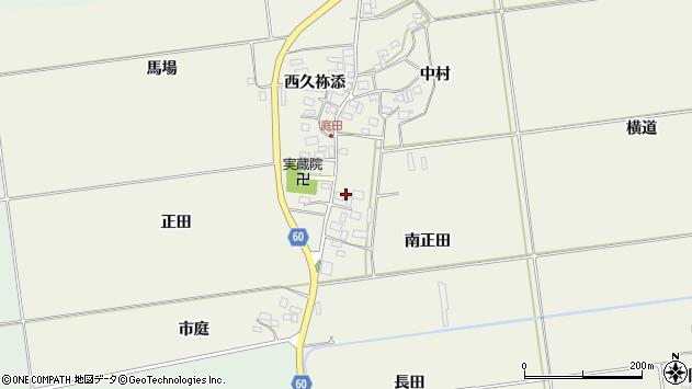山形県酒田市庭田正田27周辺の地図