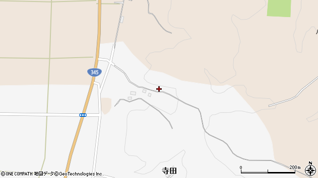山形県酒田市寺田道ノ上45周辺の地図