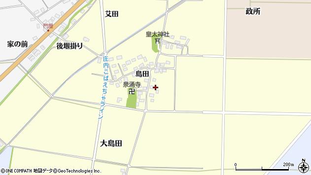 山形県酒田市大島田島田86周辺の地図